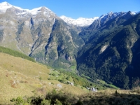 Valle Malvaglia - panorama sul fondovalle da Monda