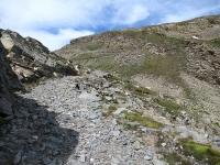 Il tratto non ciclabile durante l'ascesa al Forte Malamot