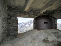 Forte Malamot - Postazione d'artiglieria