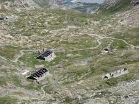 I  baraccamenti militari del Giaset visti dal Forte Malamot