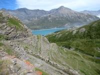 Discesa dal Forte Pattacroce  - Panoramica su una parte della bella strada militare