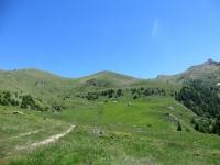 Salita al Col Portola - panorama sull'Alpe Nouvaz