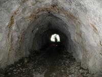 All'interno di una delle 14 gallerie che si affrontano per arrivare al Colle di Joux