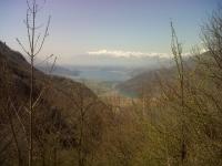 Parte terminale del Lago di Como e rilievi comaschi