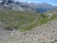 Panoramica sul Vallone dell'Urtier e sull'Alpe di Peradzà dal sentiero che risale la finestra di Champorcher