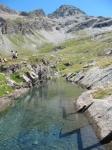 Laghetto alpino nei pressi dell'Alpe Peradzà