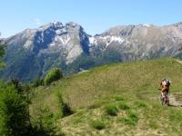 Arrivo all'Alpe Colma di Dentro, panorama
