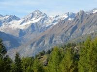Verso l'Alpe Coatè, panoramica sulla Punta d'Aurona (Alpe Veglia)