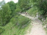 Tratto accidentato in direzione del monte Croce