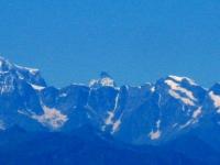 Le Alpi dalla vetta del San Primo - al centro la punta del Cervino