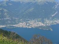 La penisola di Lavedo (Villa del Balbianello) e l'Isola Comacina dalla vetta del San Primo