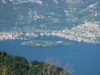 L'isola Comacina dalla vetta del San Primo