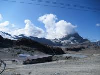Trockener Steg - Il Cervino (4.478) coperto dalle nuvole