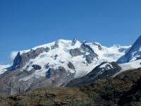 Trockener Steg - Panorama sul massiccio del Monte Rosa con Nordend (4.608), Dufour (4.634), Zumstein (4.523), Punta Gnifetti (4.554), Parrot (4.434),  Ludwigshohe (4.341)