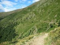 Sentiero che collega il Passo di San Lucio con l'Alpe Pietrarossa
