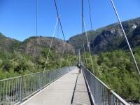 La ciclabile che attraversa il ponte sul torrente Melezza