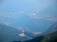 Vetta del Pizzo di Gino - panorama sull'Alto Lago di Como