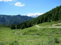 Risalendo le pendici sud-est del Mont Morion - panorama