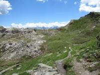 Il sentiero per il Col du Salvé