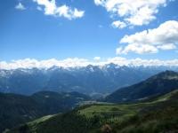 Panorama dalla cima del Monte Morion -  vista sul Monte Emilius, Rutor e Gran Paradiso