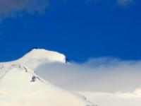 Vista dalla Cima del Monte Morion - la Punta Gnifetti sul Monte Rosa (Rif. Margherita) (4.554)