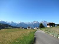 La Grande Roise (3.357 m), la Becca di Salè (3.137 m) ed il Monte Emilius (3.559) da Lignan