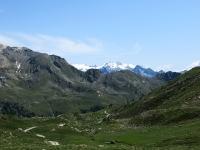 Ottimo panorama sul Monte Rosa dai pascoli dell'alpeggio Tsa de Chavalary