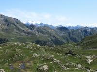 I pascoli dell'alpe Tsa de Chavalary - Sullo sfondo il Monte Rosa
