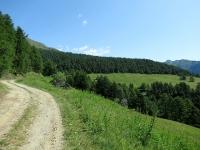 Da Porliod in direzione degli alpeggi superiori della Valle  di St. Barthélemy