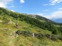 Il sentiero che corre in quota in direzione di Roti Hittu