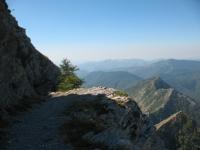 Parte finale del sentiero sotto il Monte Toraggio