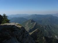 Panorama sulle Alpi liguri nei pressi del Monte Toraggio