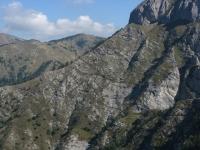 Panoramica del sentiero sotto il Monte Pietravecchia