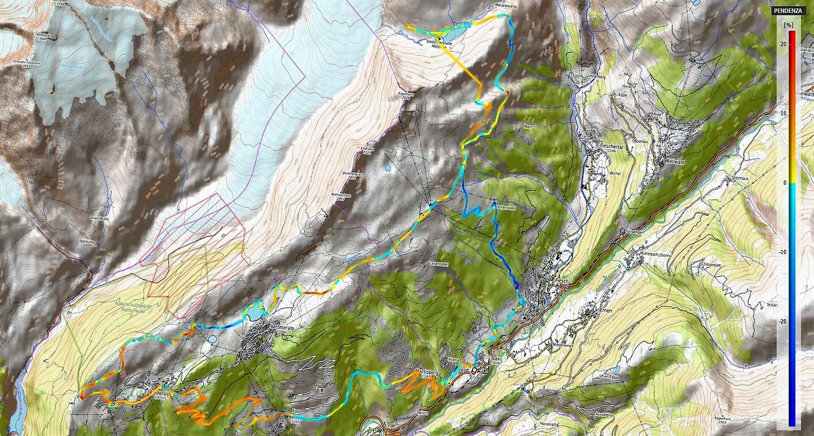 Aletsch Epic Tour Pendenze