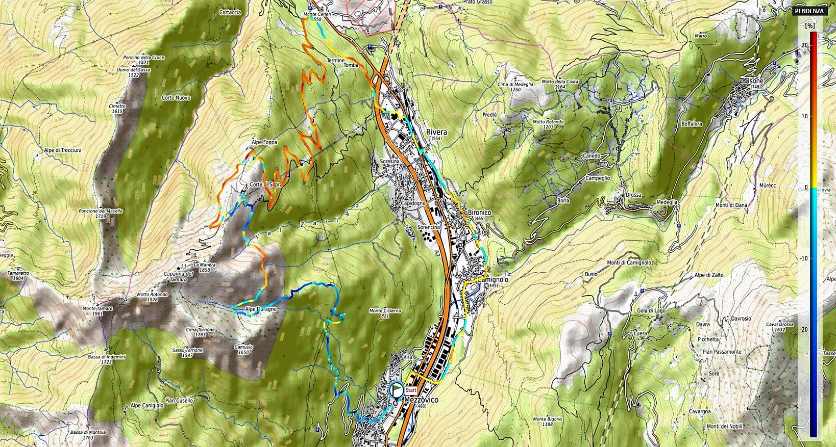 Alpe Foppa - Alpe Duragno Pendenze