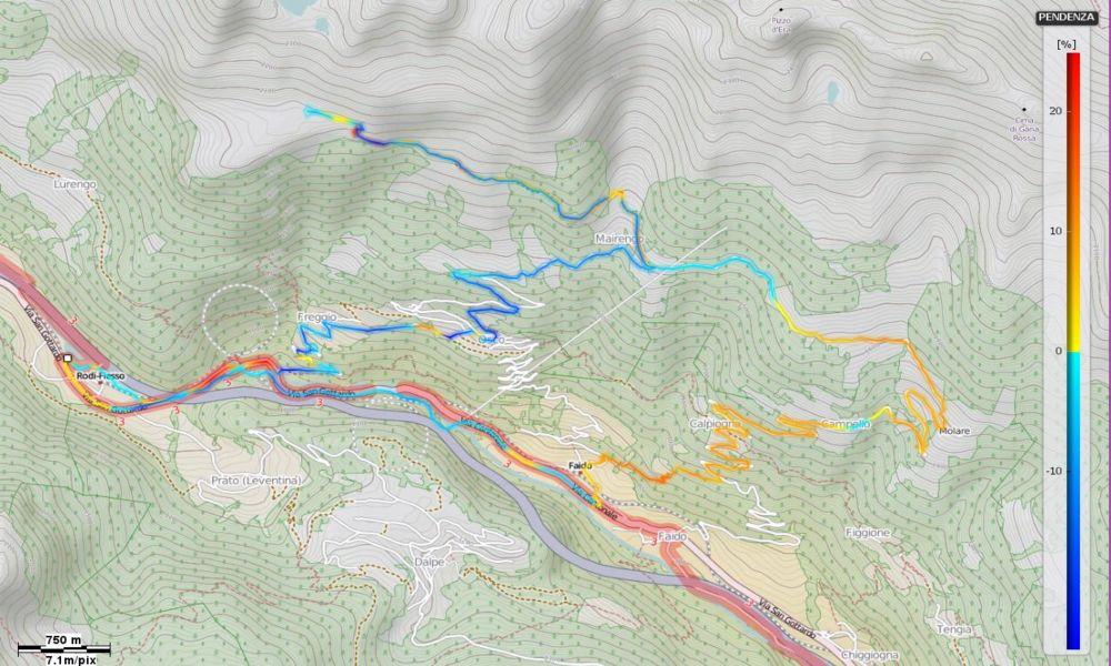 Alpe di Chiera Pendenze