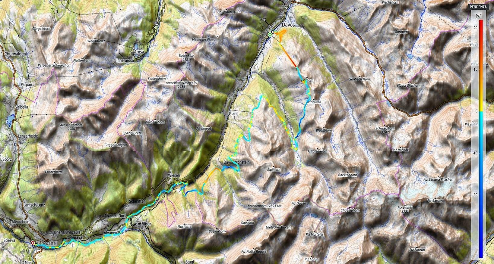 Alps Epic Trail Davos Pendenze