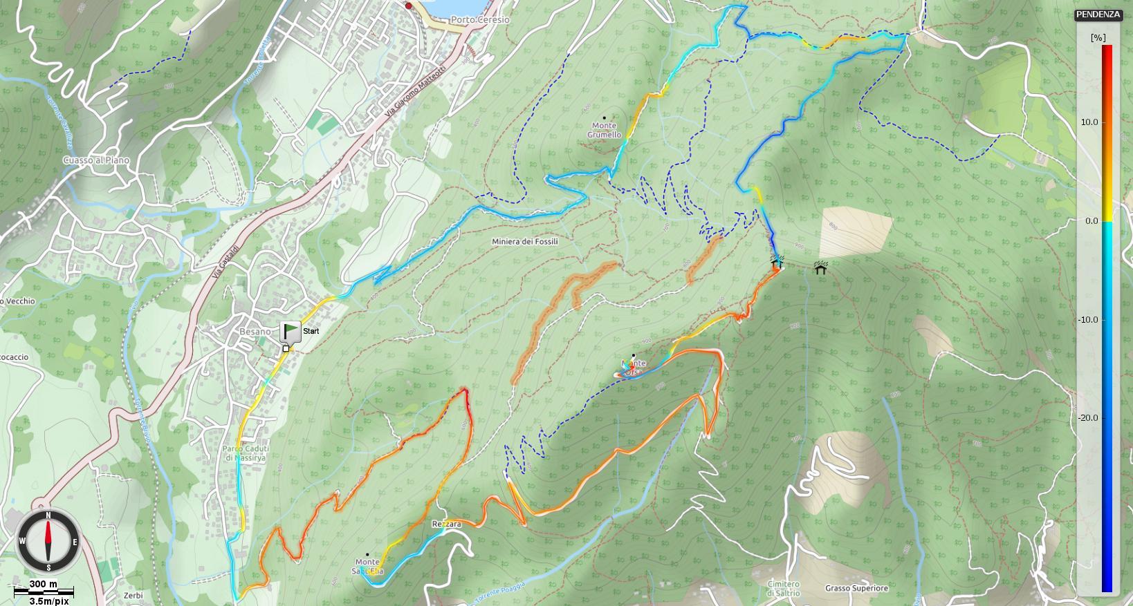 Le montagne fortificate - Monte Orsa e Monte Pravello Pendenze