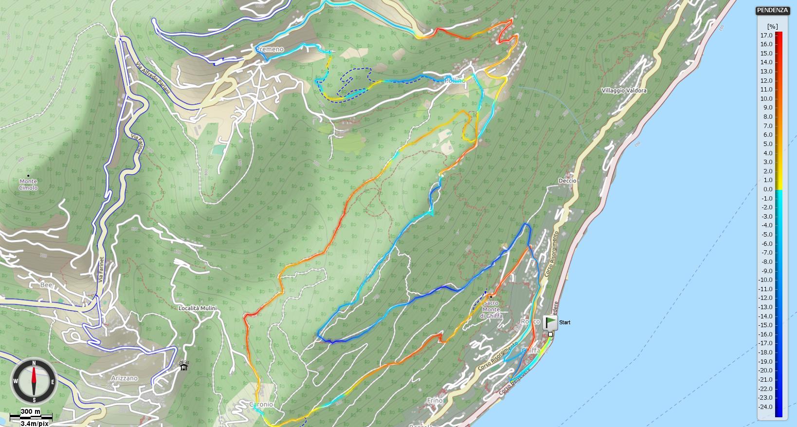 Nella Riserva naturale del Sacro Monte della S.S. Trinità di Ghiffa Pendenze