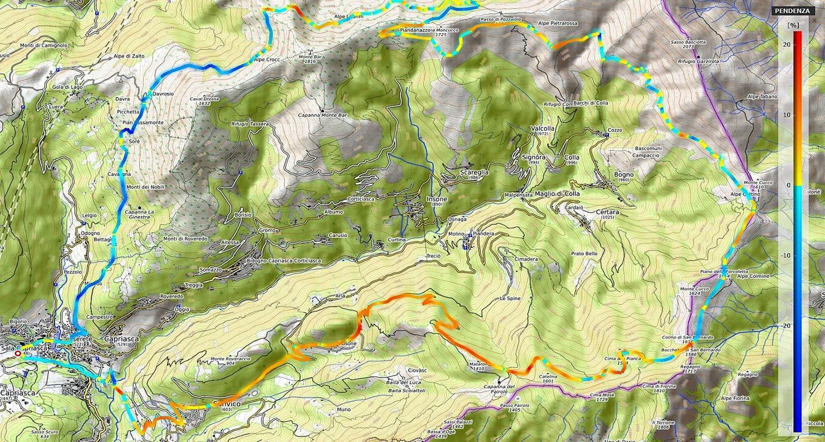 Val Colla hard tour Pendenze